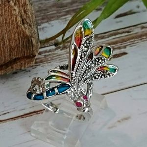Jewelry - Sterling & Marcasite Dragonfly Ring